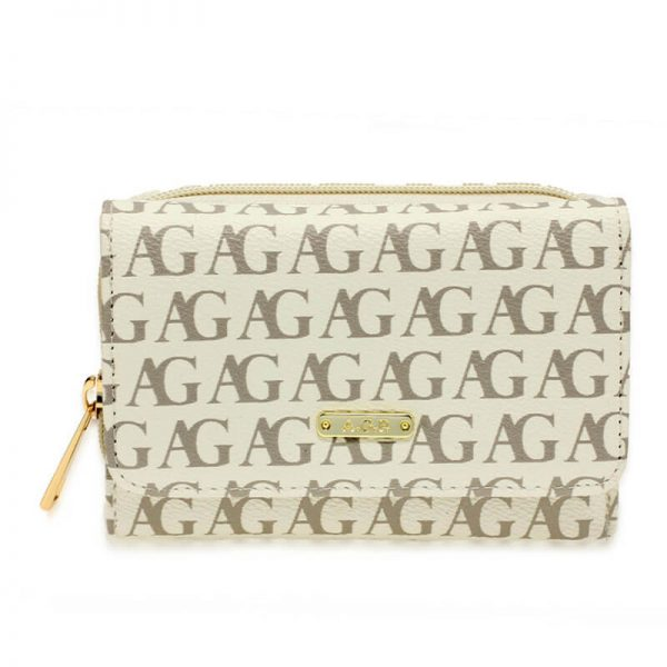 AGP1045P – White Anna Grace Design Purse Wallet_1_
