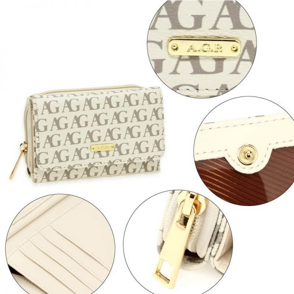 AGP1045P – Wghite Anna Grace Design Purse Wallet_5_