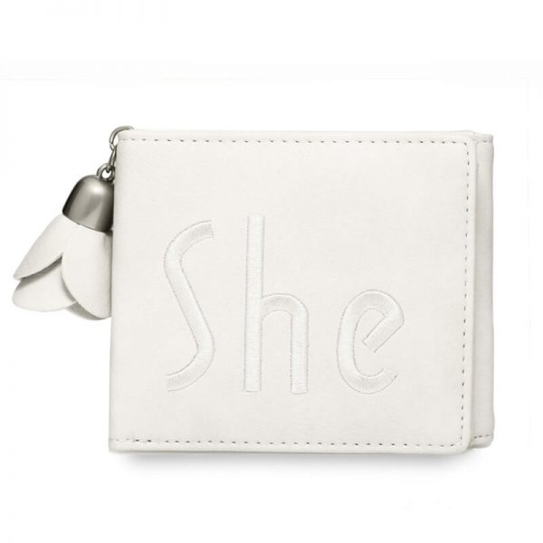 AGP1104 – Ivory Trifold Purse Wallet With Charm_1_