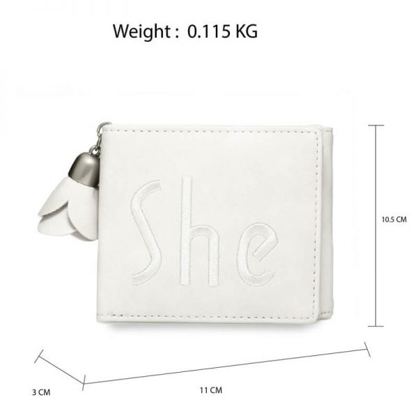AGP1104 – Ivory Trifold Purse Wallet With Charm_2_