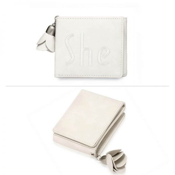 AGP1104 – Ivory Trifold Purse Wallet With Charm_3_