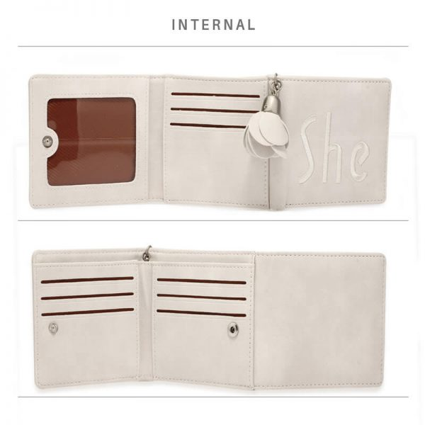 AGP1104 – Ivory Trifold Purse Wallet With Charm_4_