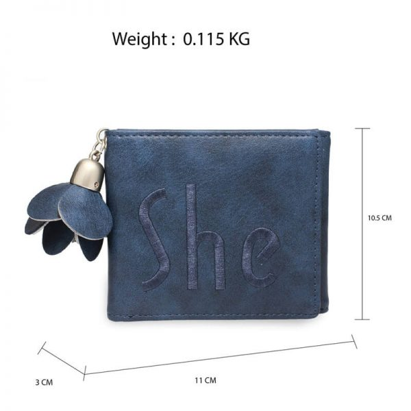 AGP1104 – Navy Trifold Purse Wallet With Charm_2_