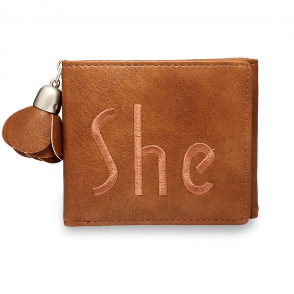 AGP1104 – Tan Trifold Purse Wallet With Charm_1_