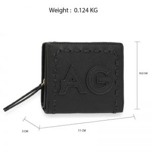 Black Anna Grace Zip Around Purse Wallet