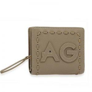 Grey Anna Grace Zip Around Purse Wallet