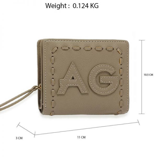 AGP1105 – Grey Anna Grace Zip Around Purse Wallet_2_