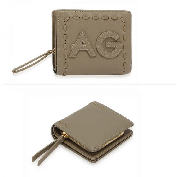 AGP1105 – Grey Anna Grace Zip Around Purse Wallet_3_