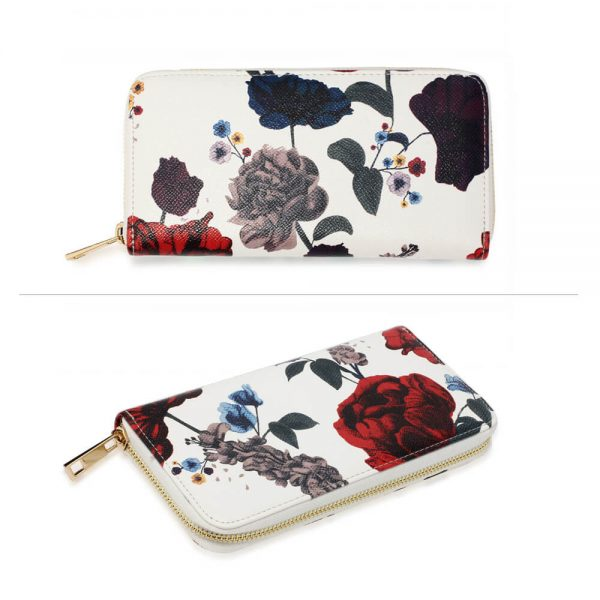 AGP1108 – Multi Floral Print Zip Around Purse Wallet_3_