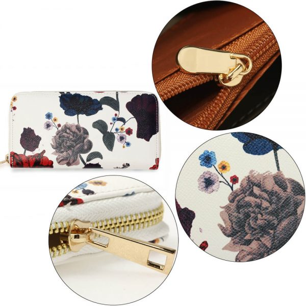 AGP1108 – Multi Floral Print Zip Around Purse Wallet_5_