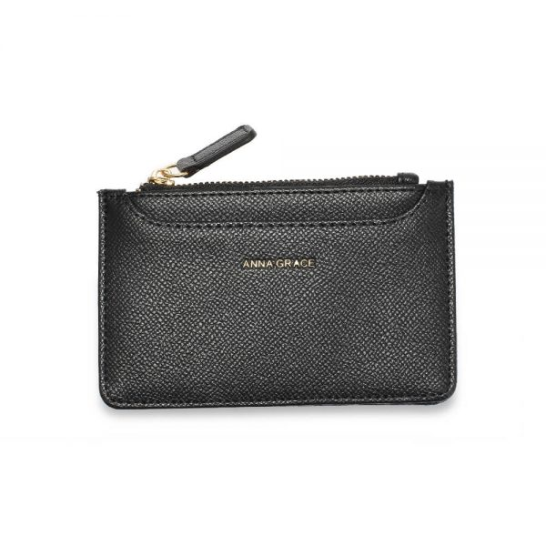 AGP1109 – Black Anna Grace Zip Coin Pouch_1_