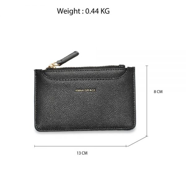AGP1109 – Black Anna Grace Zip Coin Pouch_2_
