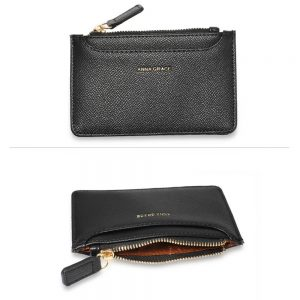 Black Anna Grace Zip Coin Pouch