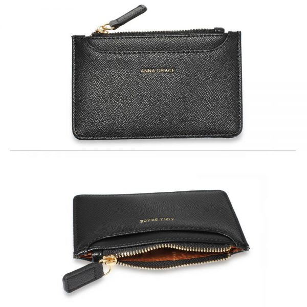 AGP1109 – Black Anna Grace Zip Coin Pouch_3_