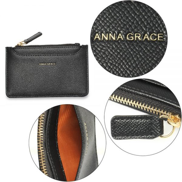 AGP1109 – Black Anna Grace Zip Coin Pouch_5_