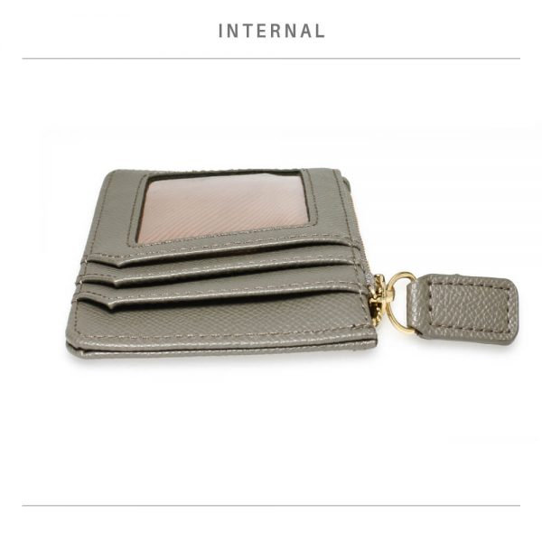AGP1109 – Grey Anna Grace Zip Coin Pouch_4_