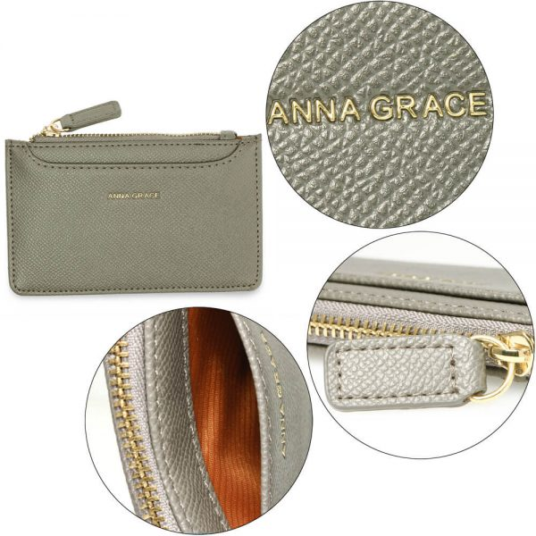 AGP1109 – Grey Anna Grace Zip Coin Pouch_5_