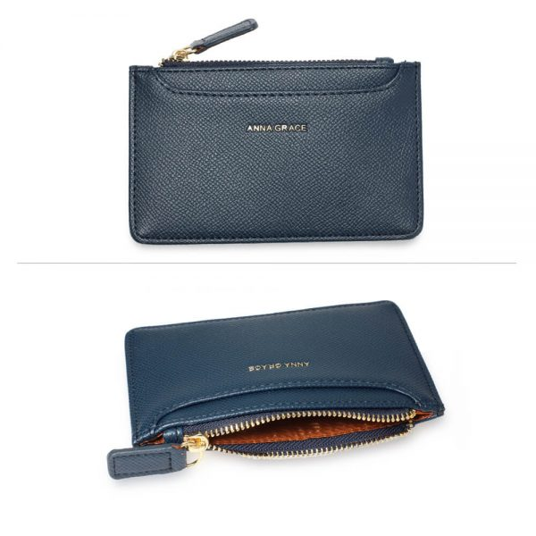 AGP1109 – Navy Anna Grace Zip Coin Pouch_3_