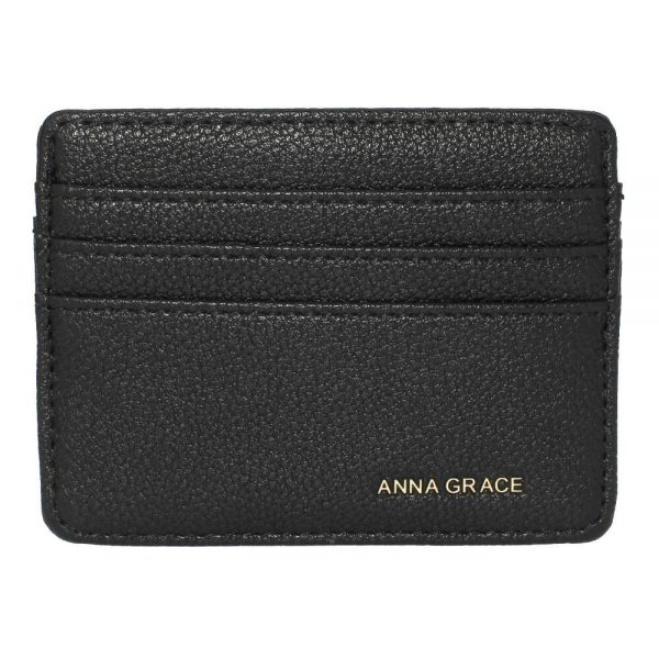 AGP1120 – Black Anna Grace Card Holder Wallet_1_