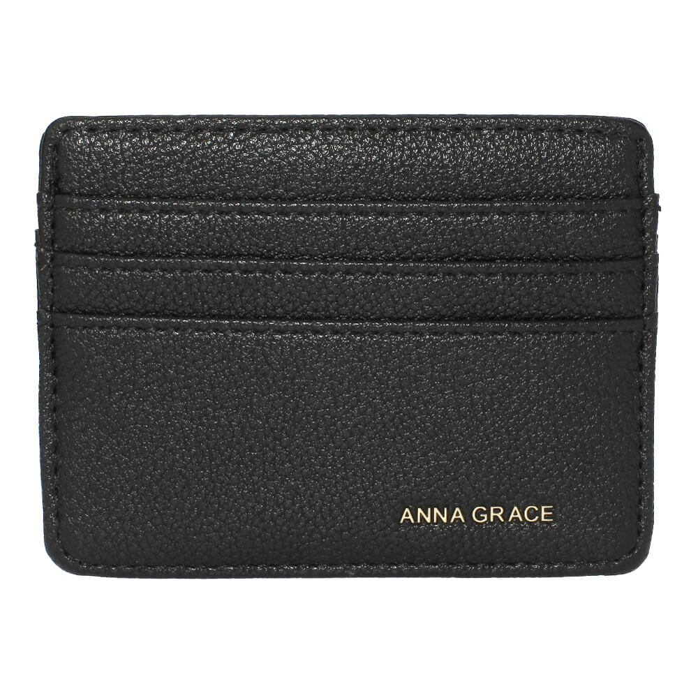Black Anna Grace Card Holder Wallet