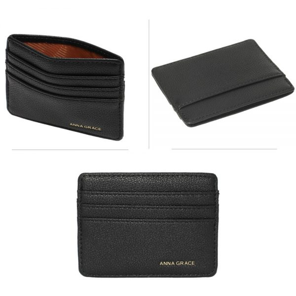 AGP1120 – Black Anna Grace Card Holder Wallet_3_