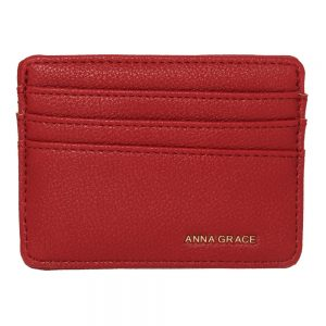 Burgundy Anna Grace Card Holder Wallet