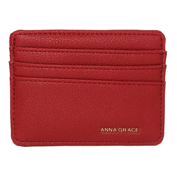AGP1120 – Burgundy Anna Grace Card Holder Wallet_1_