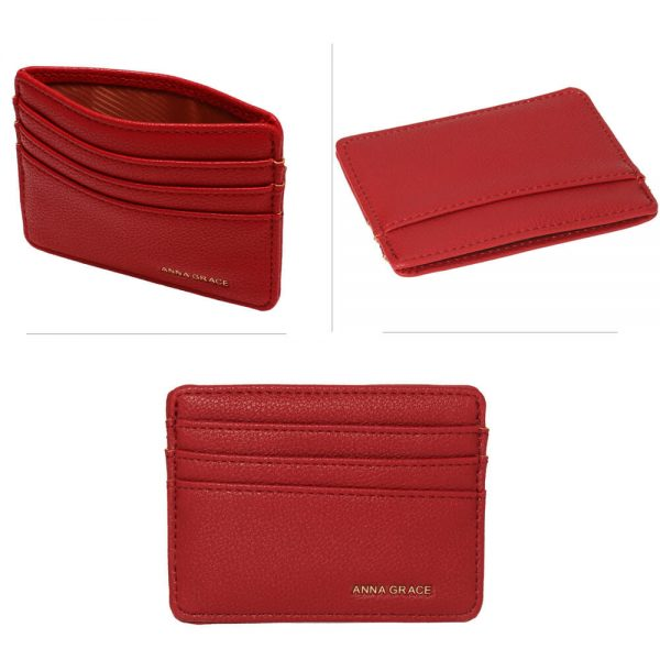 AGP1120 – Burgundy Anna Grace Card Holder Wallet_3_