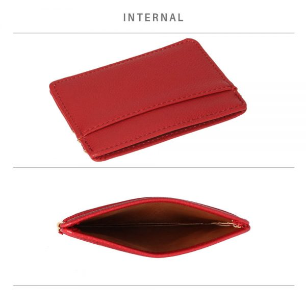 AGP1120 – Burgundy Anna Grace Card Holder Wallet_4_