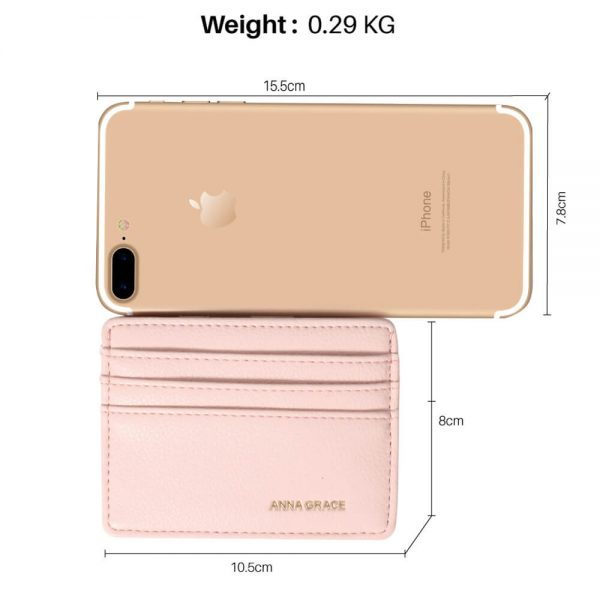 AGP1120 – Pink Anna Grace Card Holder Wallet_2_