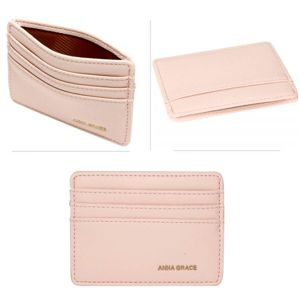 AGP1120 – Pink Anna Grace Card Holder Wallet_3_