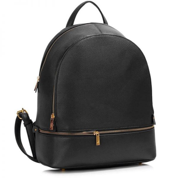 LS00171-BLACK_Backpack Rucksack School Bag_1_