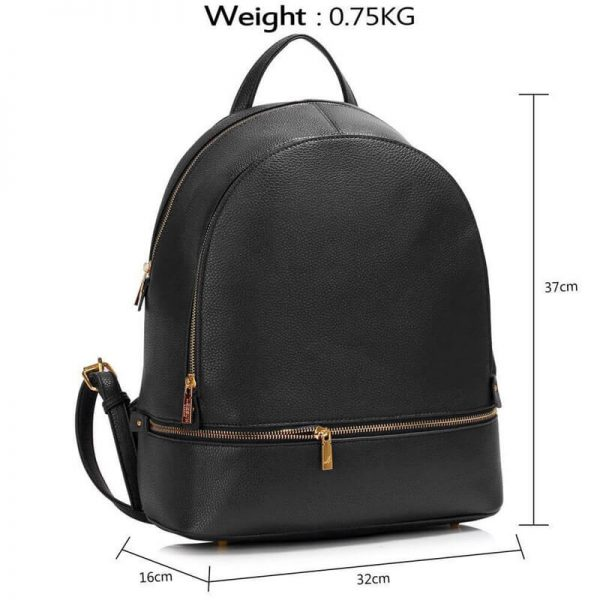 LS00171-BLACK_Backpack Rucksack School Bag_4_