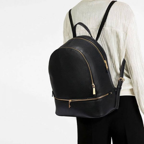 LS00171-BLACK_Backpack Rucksack School Bag_5_
