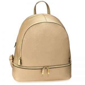 Gold_Backpack Rucksack School Bag