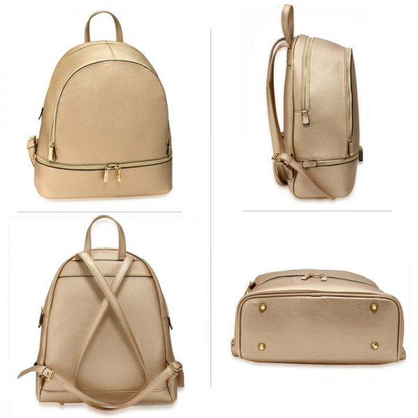 LS00171-Gold_Backpack Rucksack School Bag_3_