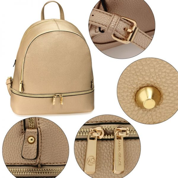 LS00171-Gold_Backpack Rucksack School Bag_5_