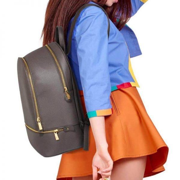 LS00171-grey_Backpack Rucksack School Bag__5_