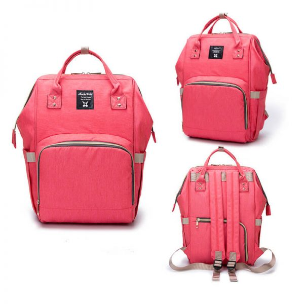 Orange Red Moms Backpack-