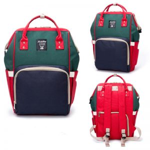 Red Navy Green Moms Backpack-