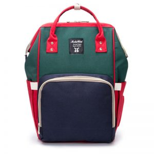 Red Navy Green Moms Backpack