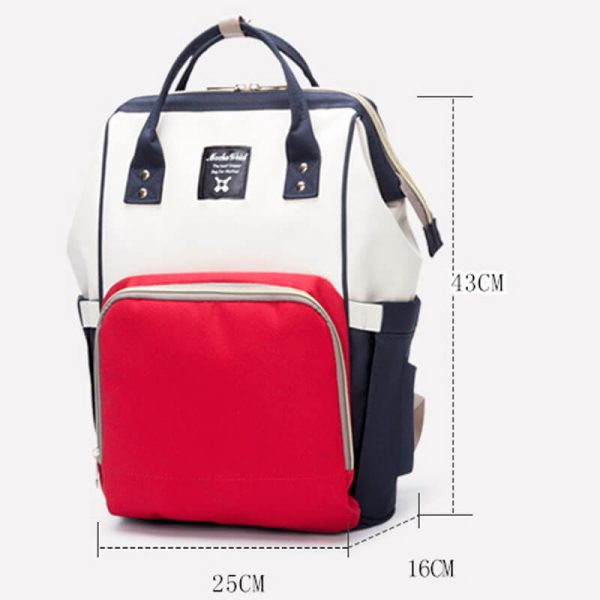 Red White Navy Moms Backpack-