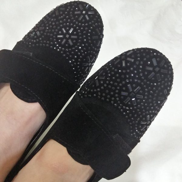 1 Black Shoes With Studs ZS06