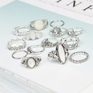 14 Pc Rings set silver