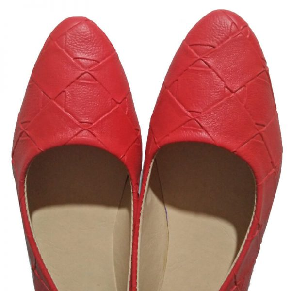 1Red Pumps Leather – Non Slip Sole ZS01