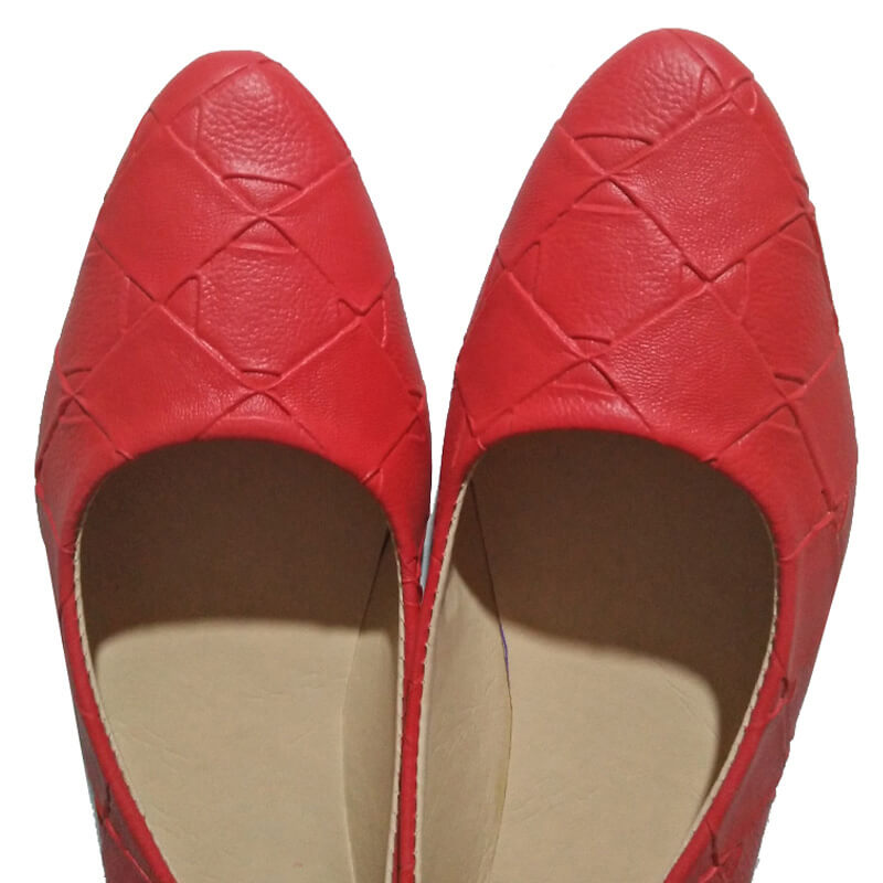 Red Pumps Leather Non Slip Sole
