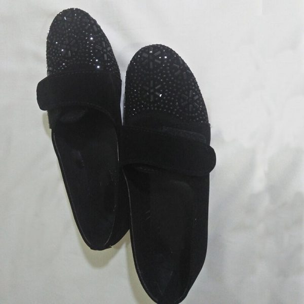 2 Black Shoes With Studs ZS06