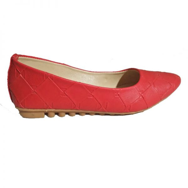 2 Red Pumps Leather – Non Slip Sole ZS01