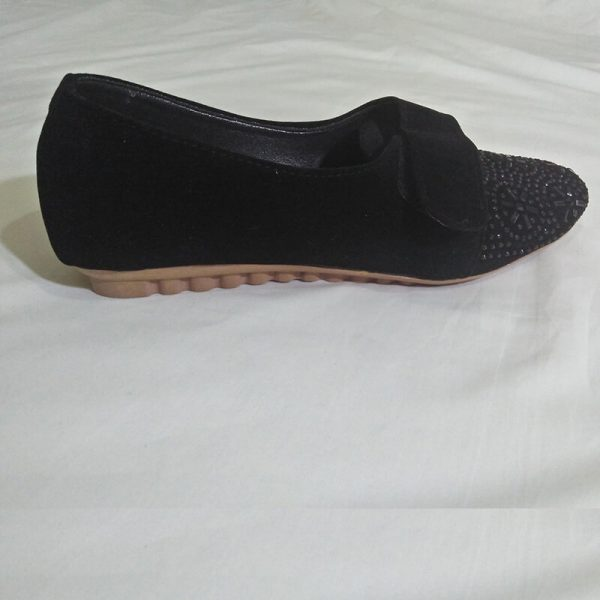 3 Black Shoes With Studs ZS06