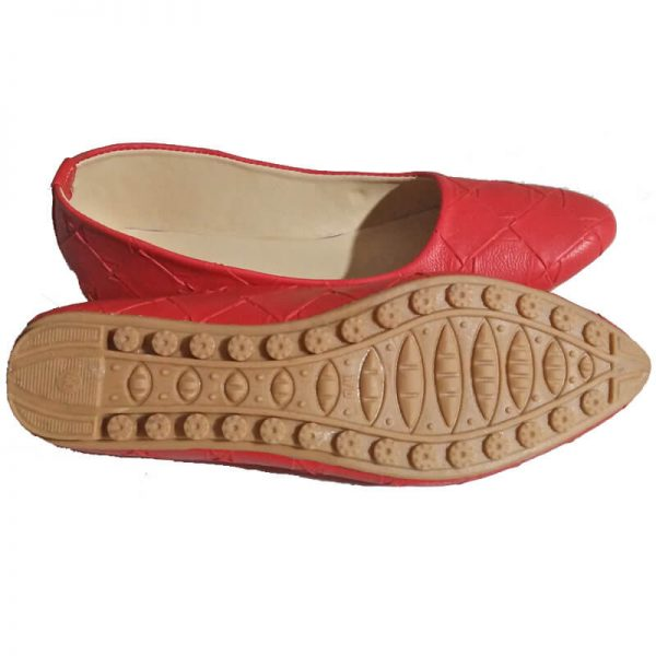 3 Red Pumps Leather – Non Slip Sole ZS01